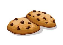 Cookies with chocolate. Illustration Stock Photography