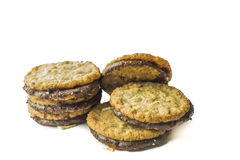Cookies. Chocolate cookies , Isolated on white background Royalty Free Stock Photography