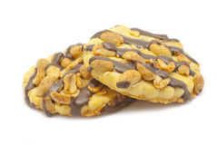 Cookies with chocolate and nuts Stock Photo