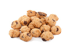 Cookies with chocolate and nuts isolated.  Stock Photography