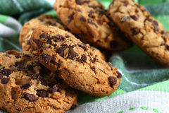 Cookies with chocolate pieces Royalty Free Stock Photos