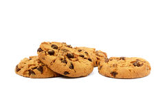 Cookies with chocolate pieces Stock Image