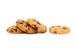 Cookies with chocolate pieces Stock Photo