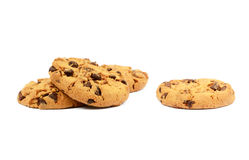 Cookies with chocolate pieces Royalty Free Stock Images