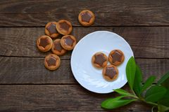 Cookies with chocolate stars Stock Photos