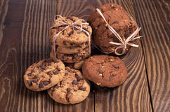Cookies with chocolate Stock Photo
