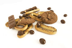 Cookies and chokolate Royalty Free Stock Photos