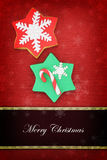 Cookies Christmas card Stock Photography