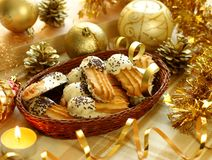 Cookies, christmas composition royalty free stock photos