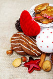 Cookies and Christmas decoration Stock Photography