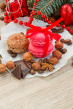 Cookies with christmas  decorations Stock Photography