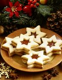 Cookies. Christmas cookies and detail of advent wreath royalty free stock photo