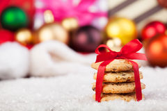 Cookies with christmas gifts Royalty Free Stock Images