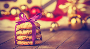 Cookies with christmas gifts Stock Photography