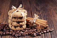 Cookies, cinnamon and anise Stock Images