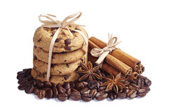 Cookies, cinnamon and anise Royalty Free Stock Photography