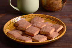 Cookies with cinnamon Stock Image