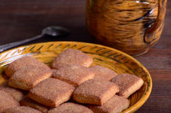 Cookies with cinnamon Royalty Free Stock Photography