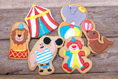 Cookies circus artist Royalty Free Stock Photo