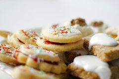 Cookies closeup Royalty Free Stock Images