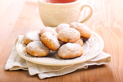 Cookies coated with icing sugar Royalty Free Stock Images