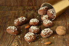Cookies with coconut chips Stock Images