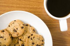 Cookies and coffee royalty free stock photography