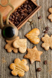 Cookies and coffee beans Stock Photo