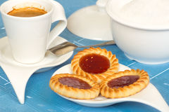 Cookies and coffee for breakfast Stock Photography