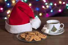 Cookies and coffee in Christmas Stock Photo