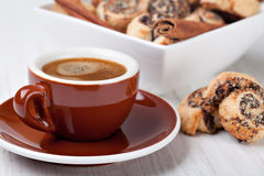Cookies and coffee cup Royalty Free Stock Photos