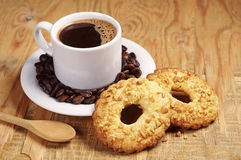 Cookies and coffee cup Stock Photos