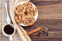 Cookies and coffee Stock Image