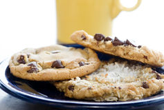 Cookies and coffee for lunch break Stock Photography