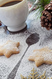 Cookies and Coffee for Santa Claus Stock Photography