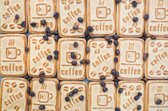 Cookies with coffee. Sweet morning coffee with your favorite treat Stock Images