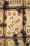 Cookies with coffee. Sweet morning coffee with your favorite treat Stock Photos