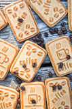 Cookies with coffee. Sweet morning coffee with your favorite treat Stock Photography