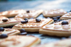 Cookies with coffee. Sweet morning coffee with your favorite treat Royalty Free Stock Photo