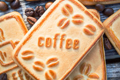 Cookies with coffee. Sweet morning coffee with your favorite treat Royalty Free Stock Photography