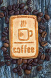 Cookies with coffee. Sweet morning coffee with your favorite treat Stock Image