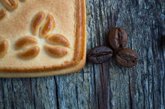 Cookies with coffee. Sweet morning coffee with your favorite treat Royalty Free Stock Photos