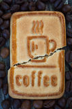 Cookies with coffee. Sweet morning coffee with your favorite treat Royalty Free Stock Images