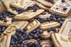 Cookies with coffee. Sweet morning coffee with your favorite treat Royalty Free Stock Image