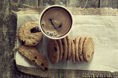 Cookies and coffee on table Royalty Free Stock Image