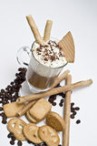 Cookies, coffee and wafers. Royalty Free Stock Photo