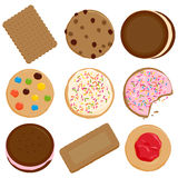 Cookies collection royalty free illustration