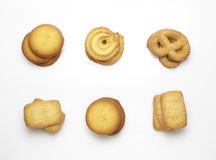 Cookies collection on a white background Stock Image