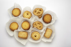 Cookies collection on a white background Royalty Free Stock Photography