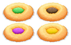 Cookies with color frosting Stock Image